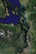 Aerial Map of Puget Sound